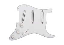 Pickguard Triple Rails White Assy