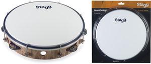 "10""Tambourine 1Rw Jg/Plst Wood"