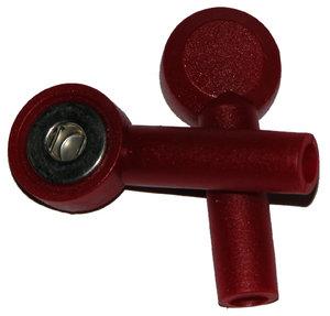 Tryckknapp - 3mm's hona, Röd