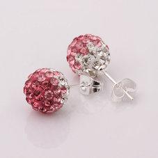 DISCOBOLLÖRHÄNGEN - Rosa/Crystal