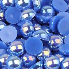 HALVPÄRLA - blå AB 6 mm