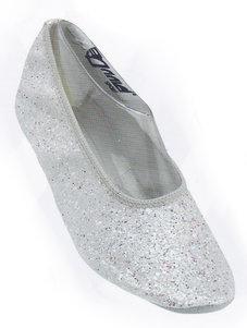 DANSSKO - vit glitter