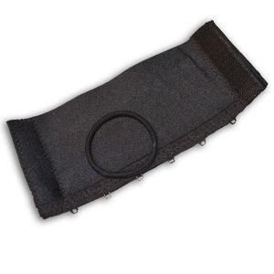 HAIRCUFF - svart AB 6 cm
