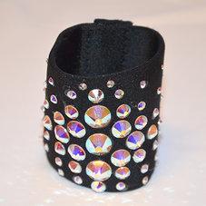 HAIRCUFF - svart Crystal AB 6 cm