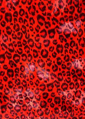 SAMMETSLEOPARD - röd