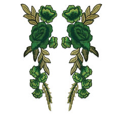BLOMMOR - gröna /1 par