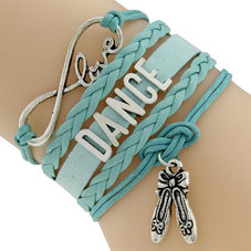 "ETERNITY ""Love Dance"" armband - turkost"