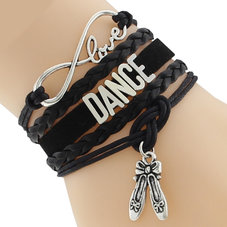 "ETERNITY ""Love Dance"" armband - svart"