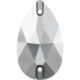 """3230 DROPPE 12x7 mm Crystal Comet Argent Light (001 CAL) """"SILVER"""""""