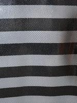 STRIPE svart/vit/silver