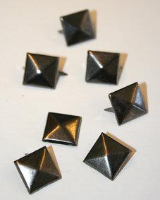 PUNKNITAR - svart metallic 12 mm