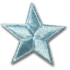 Stjärna - ljusblå