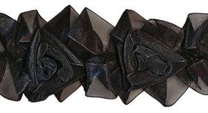 BAND m. organzarosor - svart