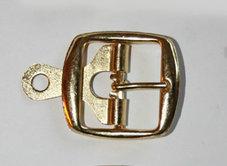 METALLSPÄNNE guld 3 cm
