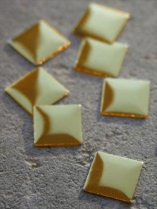 Fyrkanter - guld 1 cm