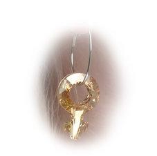 GIRLPOWER - Golden Shadow/örhängen 30 mm