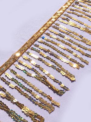PALJETTFRANS - guld 15 cm