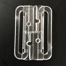 BIKINISPÄNNE - transparent / fäste 3 cm