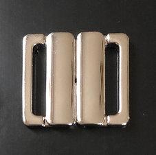 BIKINISPÄNNE - silver metallic/ fäste 2 cm