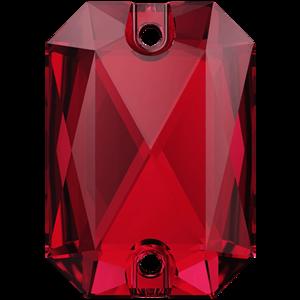 3252 EMERALD CUT Scarlet 20x14 mm