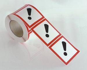 Varningsetikett Skadlig GHS 07-10x10 cm