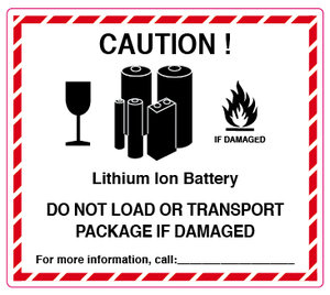 Caution! Lithium Ion Batteries