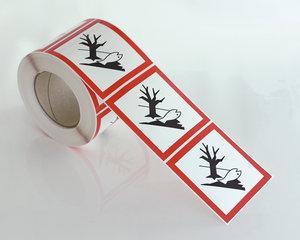 Varoitusmerkit Ympäristölle vaarallinen GHS 09-10x10 cm