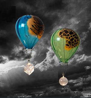Hot Air Balloon Tiger Blue