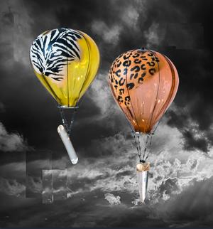 Hot Air Balloon Leopard Pink