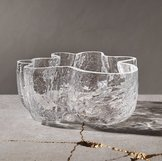 Crackle Bowl Small Clear