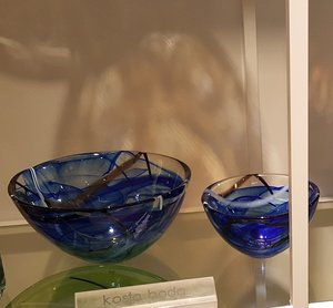 Contrast Bowl Blue Small  - Kosta Boda