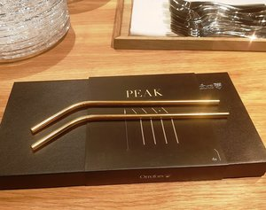 Peak Straw Gold incl Cleaning brush  4-pack - Orrefors