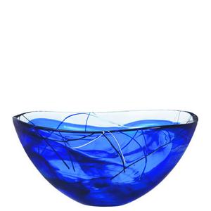 Contrast Bowl Blue Large - Kosta Boda
