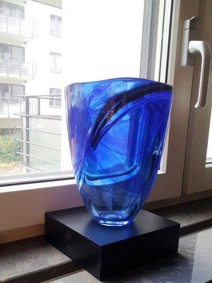 Contrast Vase Blue - Kosta Boda