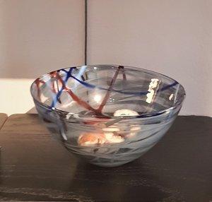 Contrast Bowl Grey Medium - Kosta Boda