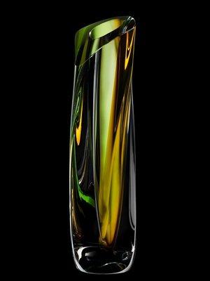 Saraband Vase Green/Amber