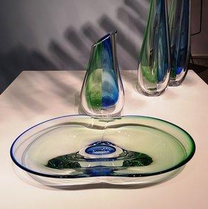 Summer Breeze Vase Green/Blue - Kosta Boda