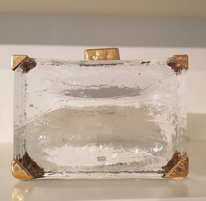 Suitcase On The Beach Clear Gold - Kosta Boda