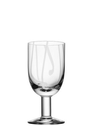 Contrast Wine Glass White Color - Kosta Boda