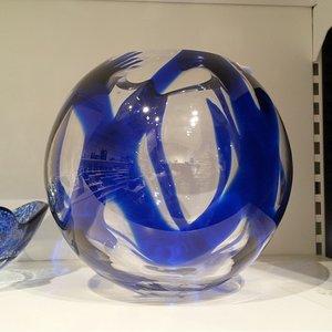 Globe Vase Blue - Kosta Boda