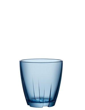Bruk Drinking Glass Small Blue 2-pack - Kosta Boda