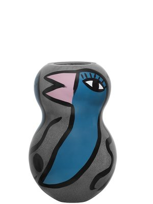 Birdy Vase Grey Medium - Kosta Boda