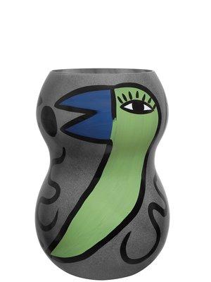 Birdy Vase Grey Large - Kosta Boda