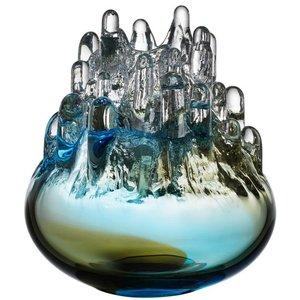Polar Candleholder Large Brown Blue - Kosta Boda