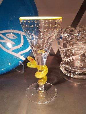 Snake Pokal  Clear Yellow - Kosta Boda Limited