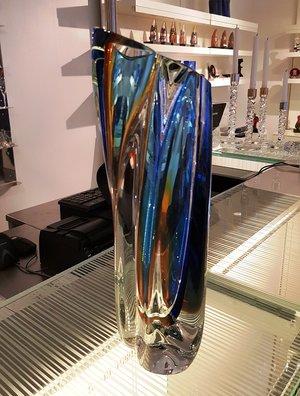 Vase Blue Amber Green - Kosta Boda