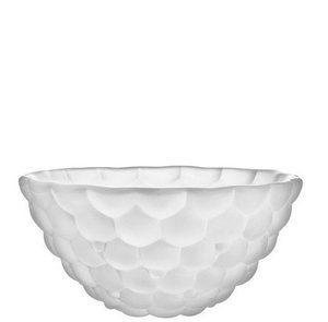 Raspberry Bowl Frosted Large  - Orrefors