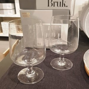 Bruk Drinking Glass Large Clear Foot 4-pack  - Kosta Boda