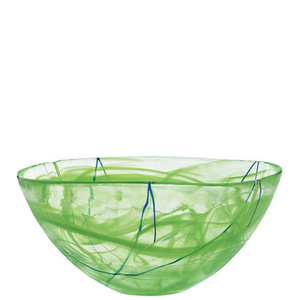 Contrast Bowl Lime Large  - Kosta Boda