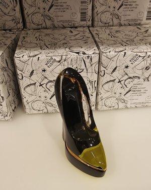 Make Up Shoe Attention Black/Yellow  - Kosta Boda
